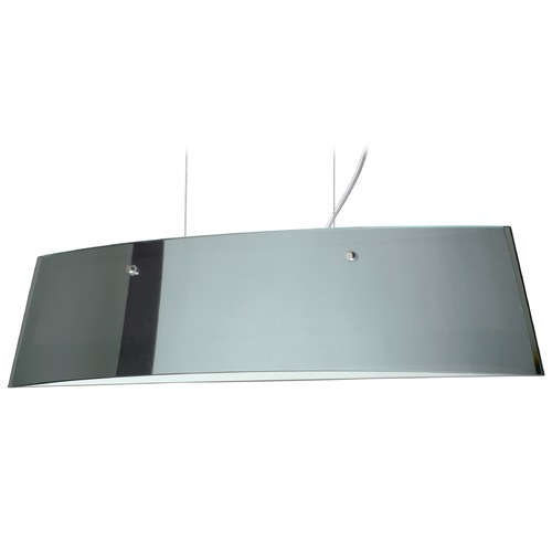 Besa Lighting Besa Lighting Silhouette Satin Nickel LED Island Light with Rectangle Shade LS3-4454MR-LED-SN