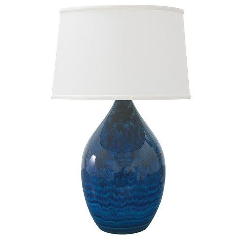 House of Troy Lighting House of Troy Scatchard Midnight Blue Table Lamp with Empire Shade GS402-MID