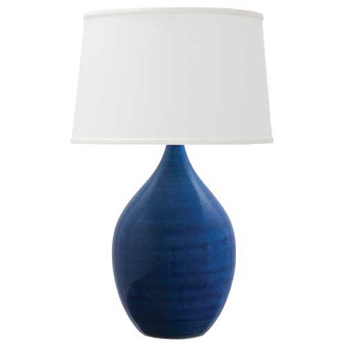 House of Troy Lighting House Of Troy Scatchard Blue Gloss Table Lamp with Empire Shade GS302-BG