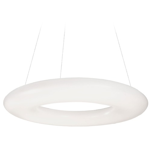 Kuzco Lighting Modern White LED Pendant with White Shade 3000K 2700LM PD80724