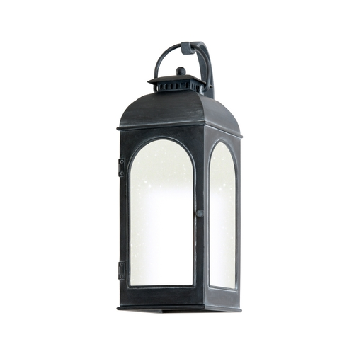 Troy Lighting Outdoor Wall Light with Clear Glass in Antique Iron Finish BF3282