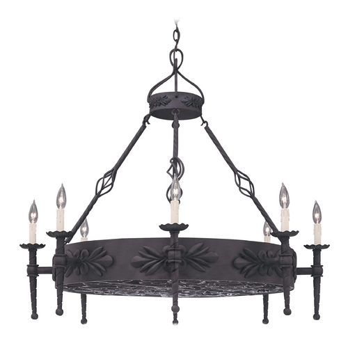 Designers Fountain Lighting Chandelier in Natural Iron Finish 9185-NI