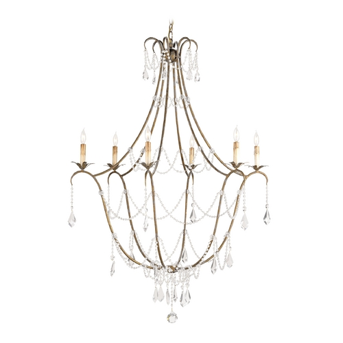 Currey and Company Lighting Crystal Chandelier in Rhine Gold Finish 9048