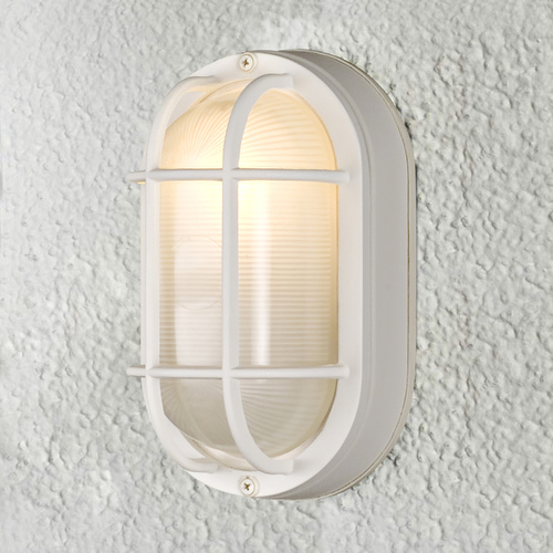 Design Classics Lighting 8-Inch Oval Bulkhead Light 4514 WH