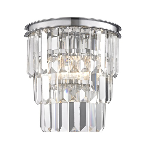 Ashford Classics Lighting Tiered Crystal Sconce with 2 Lights Chrome 1825-26
