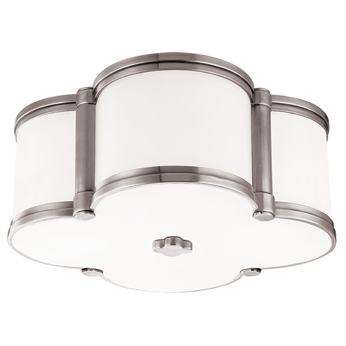 Hudson Valley Lighting Chandler 2 Light Flushmount Light Clover Shaped Glass - Polished Nickel 1212-PN