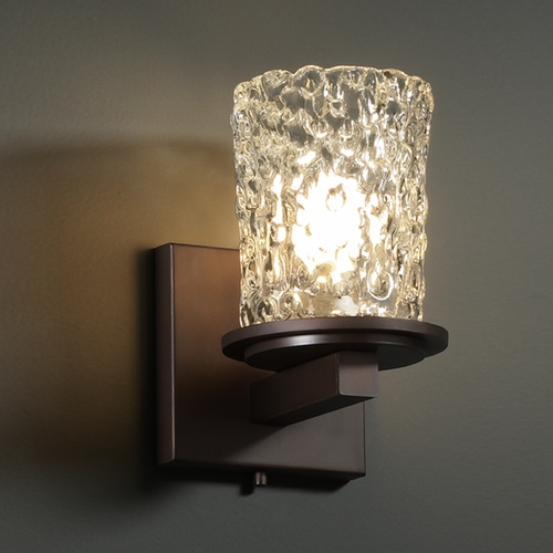 Justice Design Group Justice Design Group Veneto Luce Collection Sconce GLA-8771-16-CLRT-DBRZ