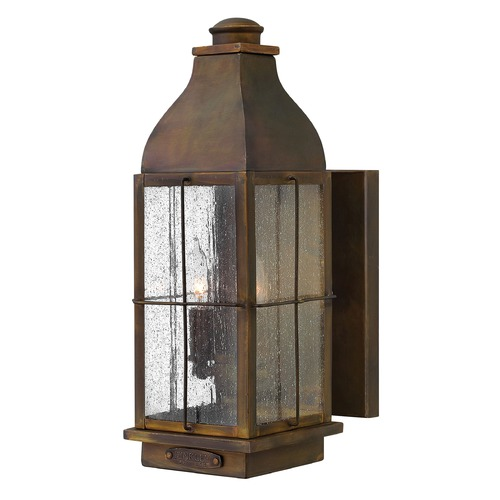 Hinkley Lighting Outdoor Wall Light with Clear Glass in Sienna Finish 2044SN