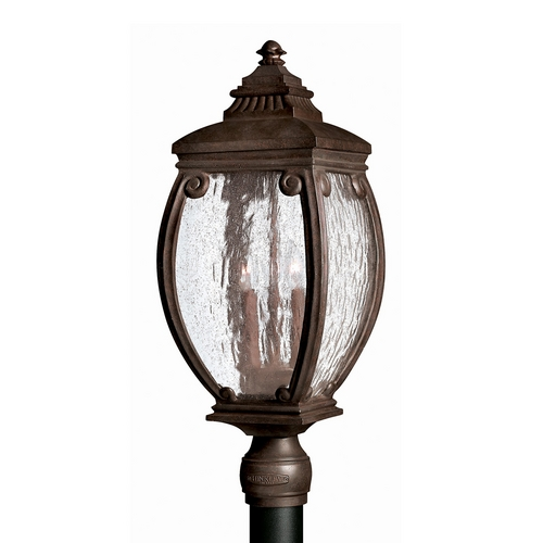 Hinkley Lighting Post Light with Clear Glass in French Bronze Finish 1941FZ