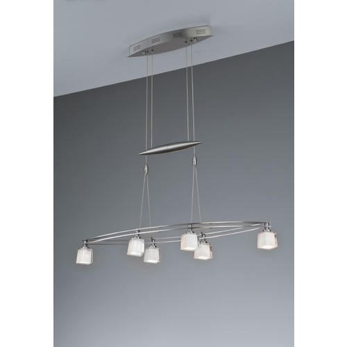 Holtkoetter Lighting Holtkoetter Modern Low Voltage Pendant Light with White Glass in Satin Nickel Finish 5506 SN G5012