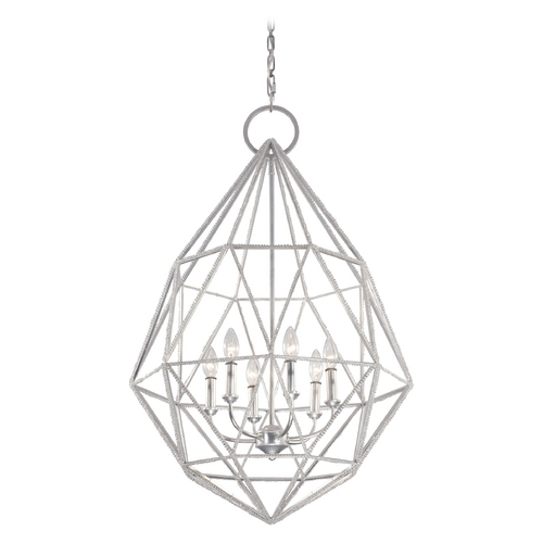 Feiss Lighting Feiss Lighting Marquise Silver Pendant Light F2942/6SLV