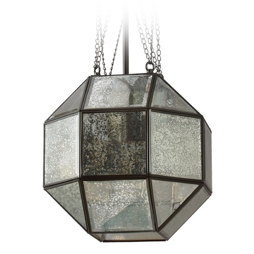 Sea Gull Lighting Mercury Glass Octagon Pendant Light Bronze Sea Gull Lighting 6635401-782