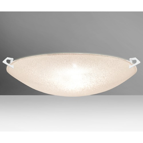 Besa Lighting Besa Lighting Sonya White Flushmount Light 8419GL-WH
