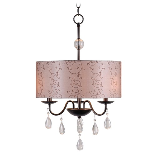 Kenroy Home Lighting Kenroy Home Lighting Arpeggio Oil Rubbed Bronze Pendant Light with Drum Shade 91733ORB