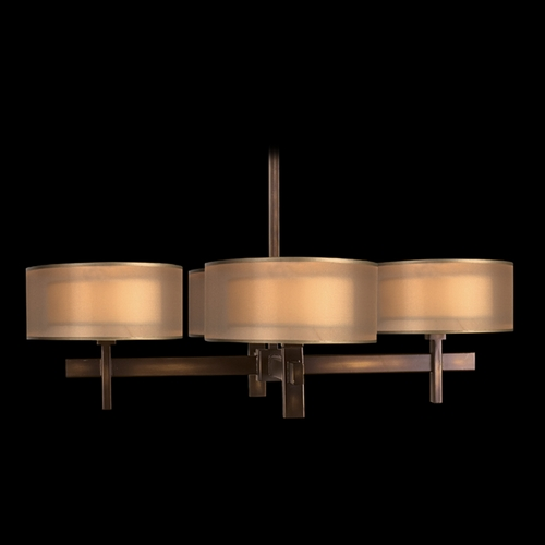Fine Art Lamps Fine Art Lamps Quadralli Rich Bourbon with Golden Highlights Chandelier 436540ST