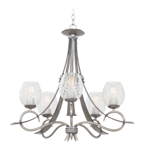 Kalco Lighting Kalco Lighting Seabrook Moon Silver Chandelier 7357SM