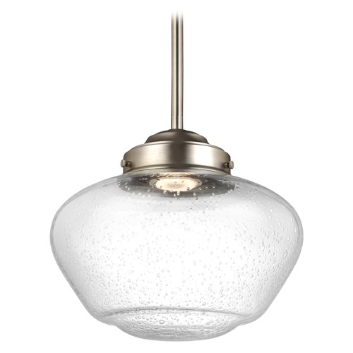 Feiss Lighting Feiss Lighting Alcott Satin Nickel LED Mini-Pendant Light P1384SN-LED