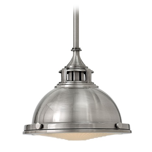 Hinkley Lighting Hinkley Lighting Amelia Polished Antique Nickel Mini-Pendant Light with Bowl / Dome Shade 3122PL