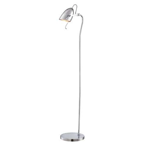 Lite Source Lighting Lite Source Kanoni Chrome Floor Lamp with Bowl / Dome Shade LS-82800