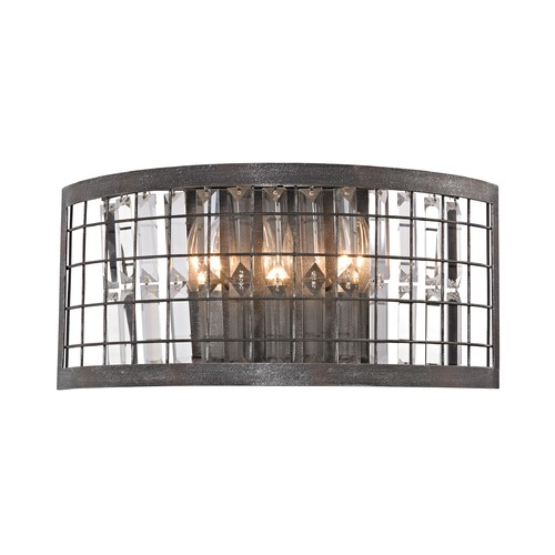 Elk Lighting Elk Lighting Nadina Silverdust Iron Sconce 14340/3