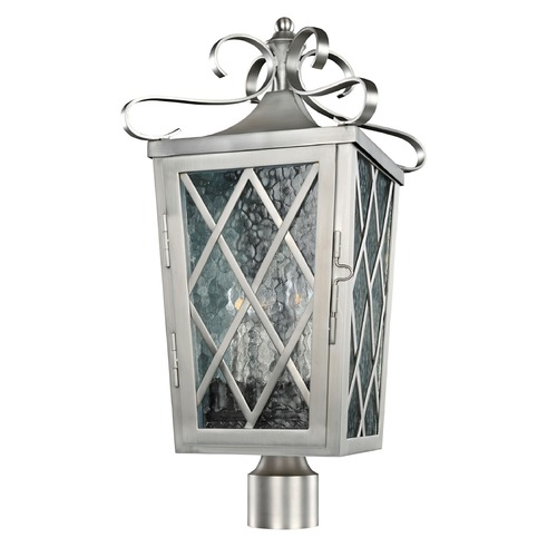 Kalco Lighting Kalco Trellis Brushed Stainless Steel Post Light 402200SL