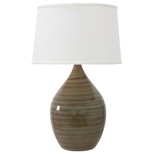 House of Troy Lighting House of Troy Scatchard Tigers Eye Table Lamp with Empire Shade GS402-TE