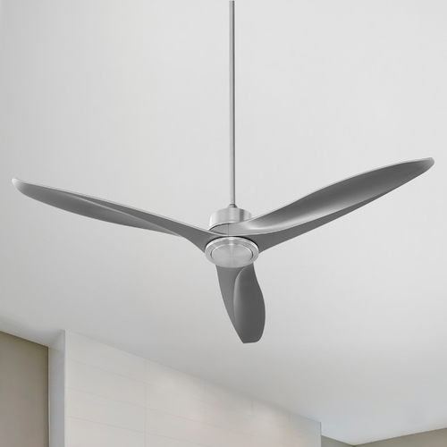 Quorum Lighting Quorum Lighting Kress Satin Nickel Ceiling Fan Without Light 74603-65