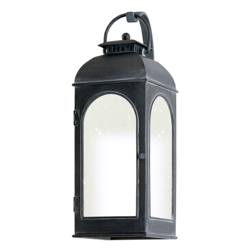 Troy Lighting Outdoor Wall Light with Clear Glass in Antique Iron Finish BF3283