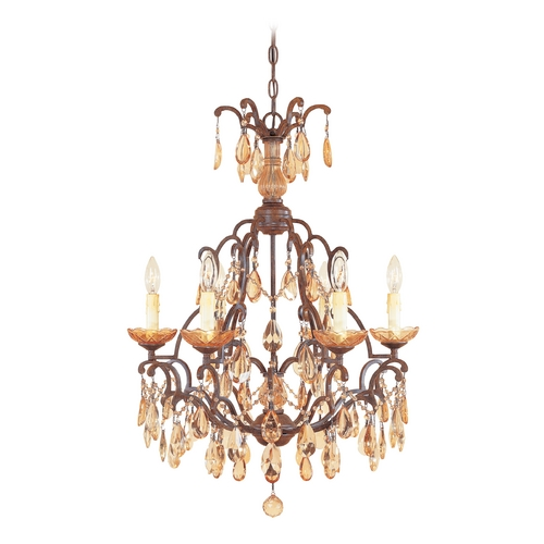 Designers Fountain Lighting Crystal Chandelier in Venetian Bronze Finish 98386-VBR