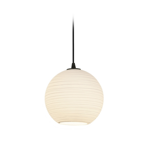 Access Lighting Modern Mini-Pendant Light with White Glass 28087-2C-ORB/WHTLN