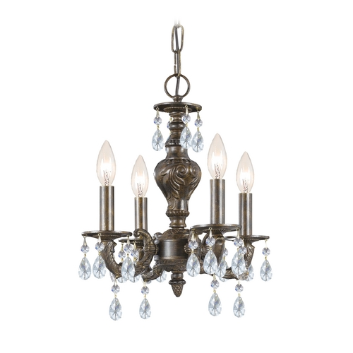 Crystorama Lighting Crystal Mini-Chandelier in Venetian Bronze Finish 5024-VB-CL-MWP