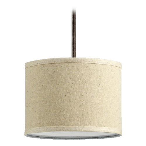 Quorum Lighting Quorum Lighting Telluride Early American Mini-Pendant Light with Drum Shade 3166-21