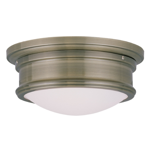 Livex Lighting Livex Lighting Astor Antique Brass Flushmount Light 7341-01