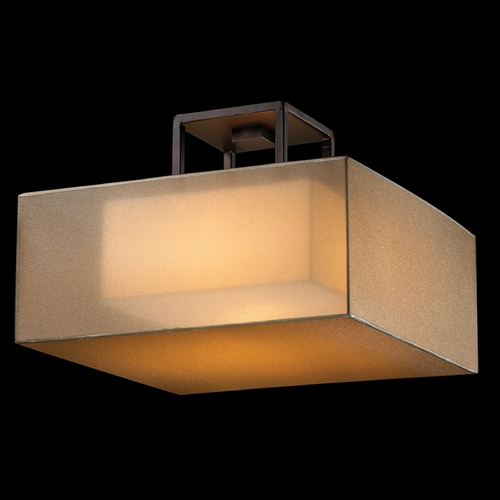 Fine Art Lamps Fine Art Lamps Quadralli Rich Bourbon with Golden Mist Highlights Semi-Flushmount Light 330740ST