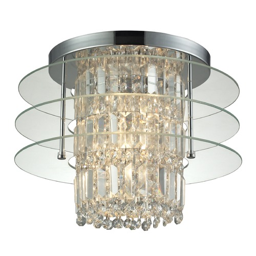 Elk Lighting Elk Lighting Zoey Polished Chrome Semi-Flushmount Light 31580/3