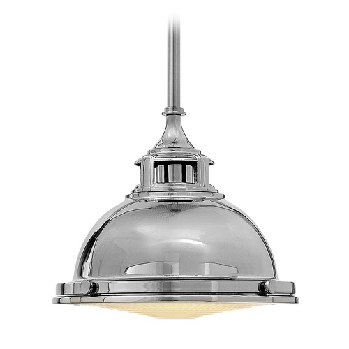 Hinkley Lighting Hinkley Lighting Amelia Polished Nickel Mini-Pendant Light with Bowl / Dome Shade 3122PN