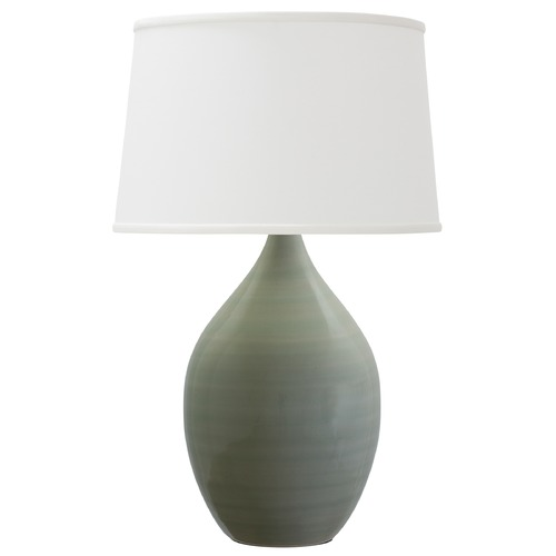 House of Troy Lighting House of Troy Scatchard Celadon Table Lamp with Empire Shade GS302-CG