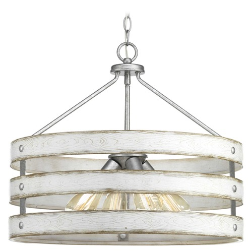 Progress Lighting Progress Lighting Gulliver Galvanized 4-Light Drum Pendant P500023-141