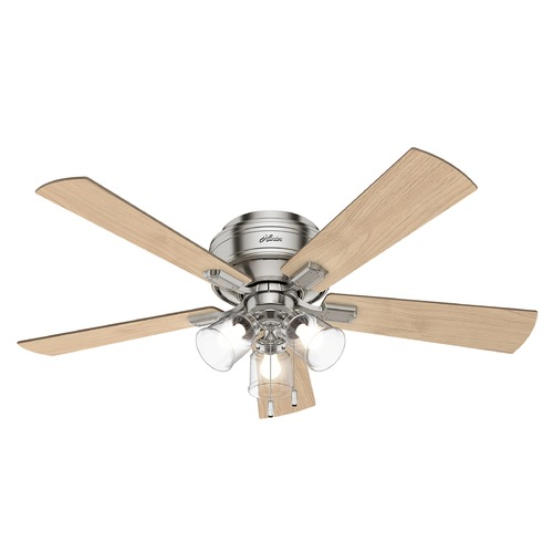 Hunter Fan Company Hunter 52-Inch Brushed Nickel LED Ceiling Fan with Light 54209