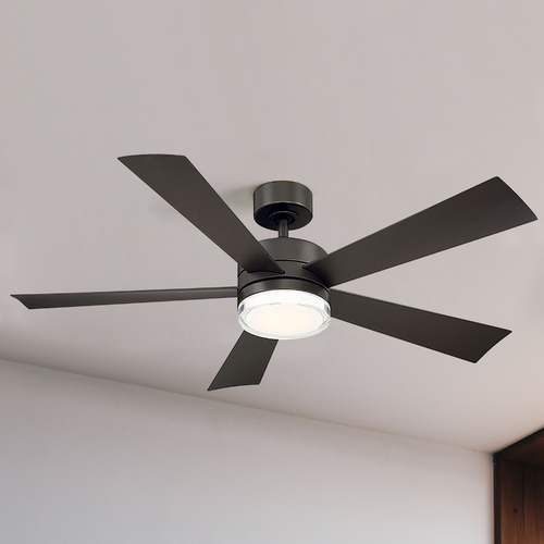 Modern Forms by WAC Lighting Modern Forms Bronze 52-Inch LED Smart Ceiling Fan 2700K 1600LM FR-W1801-52L-27-BZ
