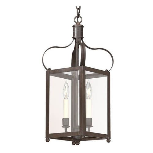 Troy Lighting Pendant Light with Clear Glass in Charred Iron Finish F8920CI