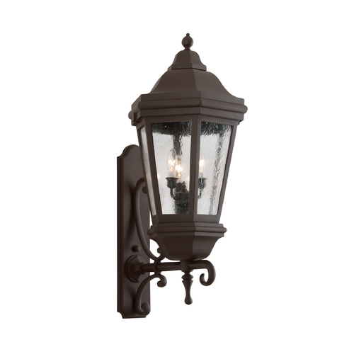 Troy Lighting Outdoor Wall Light with Clear Glass in Antique Bronze Finish BFCD6834ABZ
