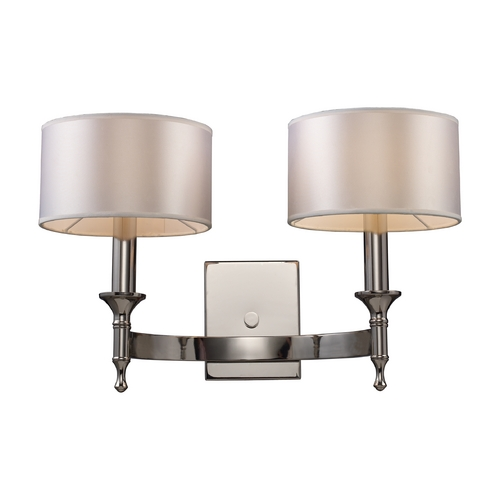 Elk Lighting Modern Sconce Wall Light with Grey Shades in Polished Nickel Finish 10122/2