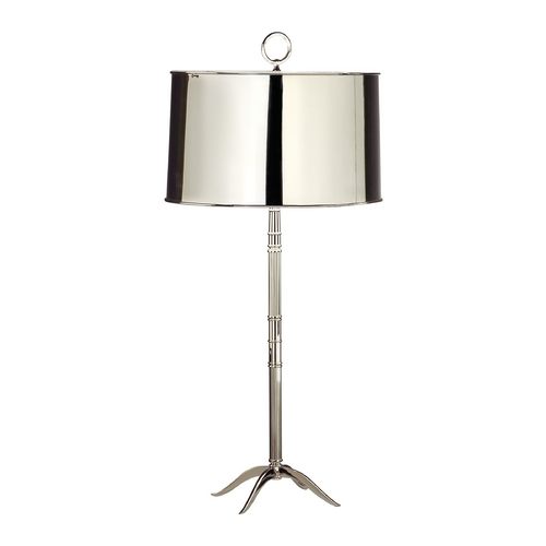 Robert Abbey Lighting Mid-Century Modern Table Lamp Polished Nickel Porter by Robert Abbey S1910