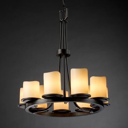 Justice Design Group Justice Design Group Candlearia Collection Chandelier CNDL-8766-14-CREM-MBLK
