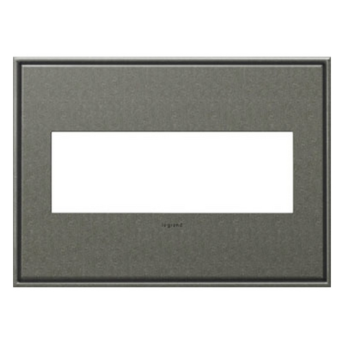 Legrand Adorne Legrand Adorne Brushed Pewter 3-Gang Switch Plate AWC3GBP4