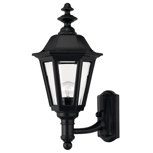 Hinkley Outdoor Wall Light with Clear Glass in Black Finish 1419BK