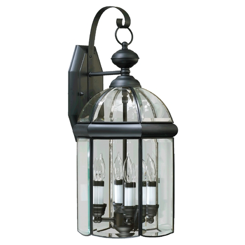Quorum Lighting Quorum Lighting Wellsley Gloss Black Outdoor Wall Light 733-4-15