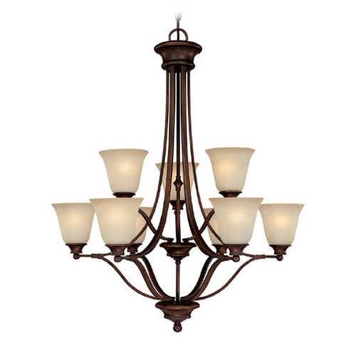 Capital Lighting Capital Lighting Belmont Burnished Bronze Chandelier 3419BB-287