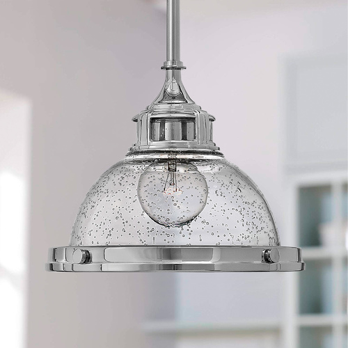 Hinkley Lighting Hinkley Lighting Amelia Chrome Mini-Pendant Light with Bowl / Dome Shade 3123CM